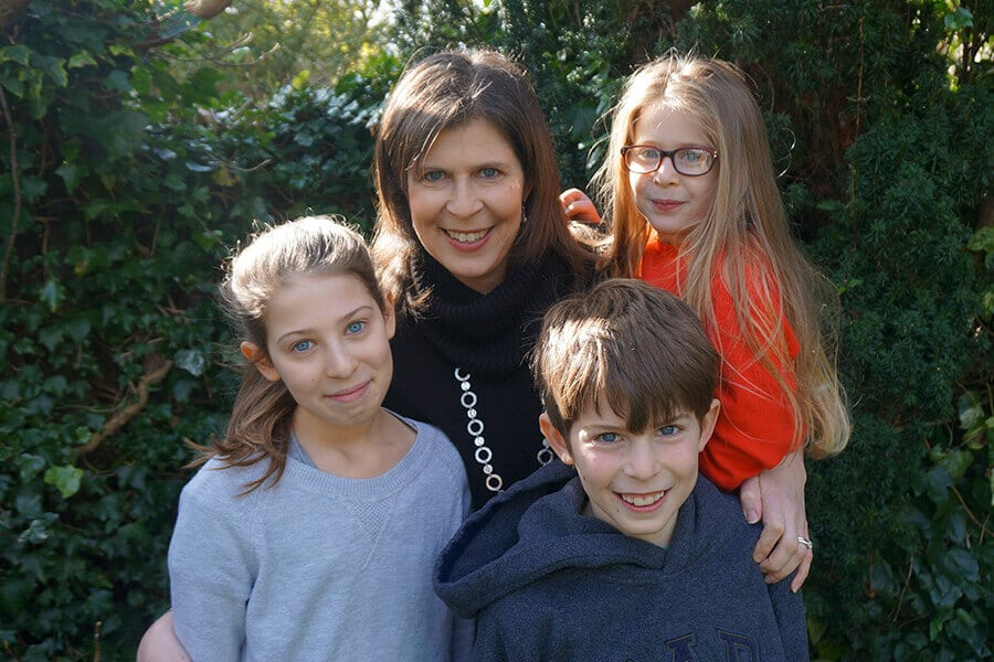 Maryanne Taylor, founder of The Sleep Works, with her family